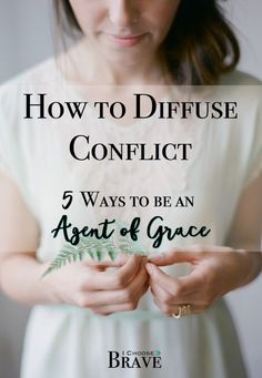 Conflict is unavoidable. We find conflict at work, conflict in our marriages, conflict amongst friends even. But how do find resolution? There are simple ways we can hep diffuse conflict from the get go.