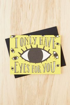 Idlewild Co. Only Have Eyes For You Card - Urban Outfitters