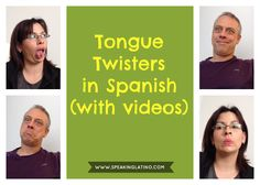 Tongue twisters in Spanish are called trabalenguas. Here are many examples (and variations) to improve your Spanish pronunciation. In this article you will find out why Spanish tongue twisters are so useful for learning Spanish. Spanish Jokes, Spanish Vocabulary, Spanish Language Learning, Teaching Spanish, Vocabulary Practice, Spanish Teacher, Foreign Language, Language Arts, Learn Spanish Free