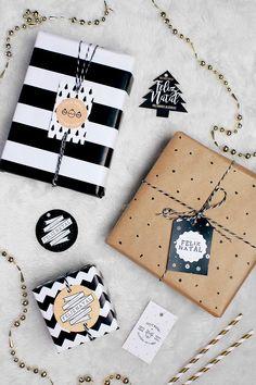 Criei algumas tags para você deixar os presentes de Natal ainda mais especiais e lindos! São alguns modelos que fiz com muito carinho, vocês vão poder conferir nesse post e lá no finalzinho fazer o download!