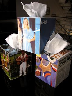 How to Make Record Album Tissue Boxes | Style with a Smile