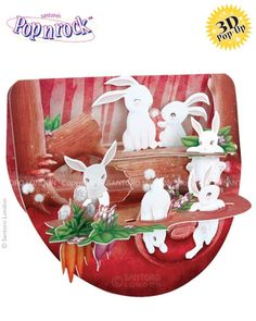 Rabbits in the Woods - Popnrock™ 3D Cards