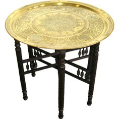 Turkish Antique Brass coffee table | From a unique collection of antique and modern coffee and cocktail tables at https://www.1stdibs.com/furniture/tables/coffee-tables-cocktail-tables/