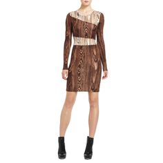 BCBG Fola Wood Grain dress