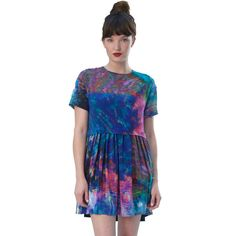 Love this kaleidoscope baby doll dress