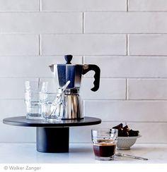 **I love glazed brick looking tiles, subtle but gorgeous** Walker Zanger Cafe - Milk 3'' x 12'' Glazed Brick, Walker Zanger, Subway Tile, Kitchen Backsplash, Restaurant Bar, Coffee Maker, Bali, Coffee Percolator, Coffeemaker