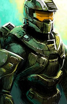 Master Chief by ThoughtandMemoryArt on Etsy