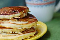 Olive Oil Blueberry Pancakes from A Cozy Kitchen.