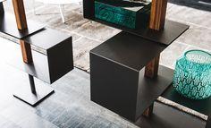 Bücherregal mit deckenbefestigung Struktur und Böden aus Stahl lackiert weiss…