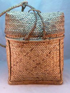 Ifguao Philippines Rattan Backpack Sangi Pasiking Vintage Asian Tribal Basket
