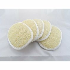 """Wholesale Lot of 100 Pcs. Natural Loofah Luffa Loofa Body Scrub Pads Bath Shower Sponge 4"""" X 5.5"""" by Unknown. $166.98. For skin with a healthy and radiant shine, use these loofah sponges to alleviate stress and tension, while stimulating blood circulation. The natural texture of the vegetable fibers will gently exfoliate away roughness by revealing newer skin cells.     Wet the loofah with warm water and douse it with the soap product of your choice. Loofah..."""