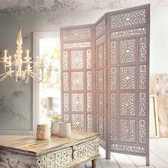 """Amazon.de: Paravent """"Marokko"""" aus Holz, Weiß (Bei dem verwendeten Link handelt es sich um einen Affiliate Link. Durch einen Kauf über den Link werde ich am Umsatz beteiligt. Dies hat für Dich keine Auswirkungen auf den Preis.)"""