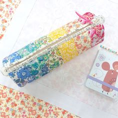 Liberty of London rainbow pencil case ..... Sew Sweet Violet