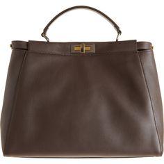 Fendi Medium Peekaboo Bag ($3,750) ❤ liked on Polyvore
