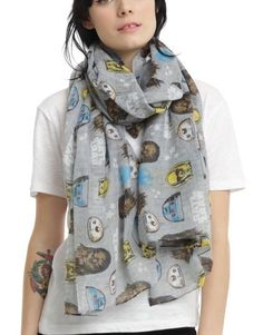 """Star Wars Disney Not The Droids Your Looking For Sheer Oblong Scarf 44""""x72"""" NWT! #Disney #Scarf"""