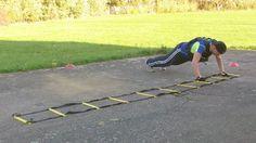 Agility ladder side shuffle planks