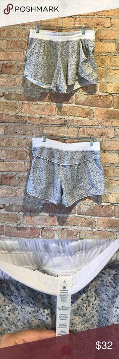 Lululemon grey patterned shorts sz 8 Lululemon grey patterned shorts sz 8. (51403). Preloved great condition. lululemon athletica Shorts