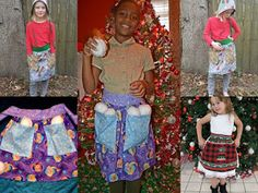 Create Kids Couture: Kids' Wide Pocket Apron Freebie and Matching Doll Pattern Pdf Sewing Patterns, Sewing Tutorials, Create Kids Couture, Apron Pockets, Homemade Gifts, Free Pattern, Dolls, Children, Pretty