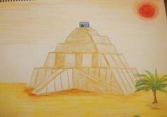 Waldorf ~ 5th grade ~ Ancient Mesopotamia ~ Ziggurat ~ main lesson book