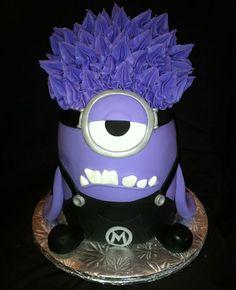 Purple Minion Cake Despicable Me