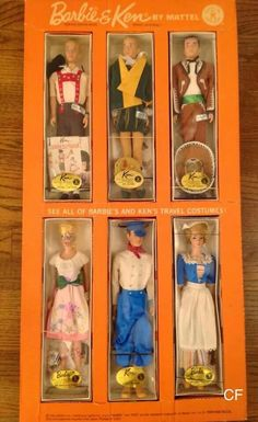 Wow! Barbie  Ken and their travel costumes! What a find, huh?