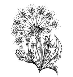 Artistic flower design vector  by Krivoruchko on VectorStock®