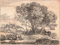 Landscape: etching by Claude.