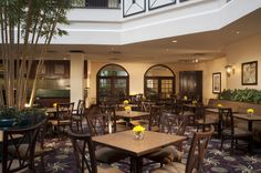 Marty's Restaurant is conveniently located in our hotel's atrium.  Room Service is also available.  For more information go to:  http://embassysuites3.hilton.com/en/hotels/virginia/embassy-suites-dulles-airport-WASDAES/dining/index.html