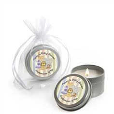 Zoo Crew - Candle Tin Personalized Baby Shower Favors.