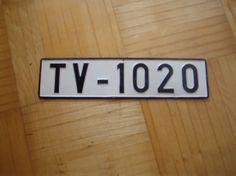 Alte auto nummer von 1950 TV Old Cars, Kunst
