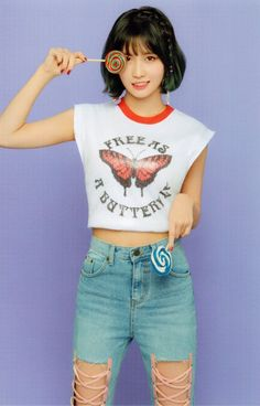 "#TWICE #MOMO #WhatisLove (photo scan) ""anyway i want her jeans.."""