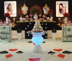 Festa tema Las Vegas Produzida pelo Espaço Imedhiato
