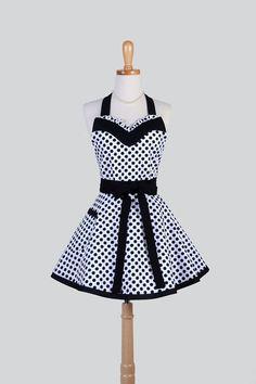 Vestido Retro mujer delantal / Linda coqueta por CreativeChics