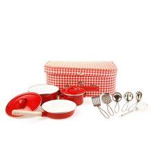 Set de casseroles - Vichy rouge