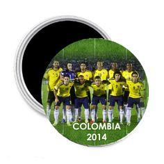 Colombia Soccer Flag 2014 Team Player Fridge Magnet 2.25 | www.balligifts.com