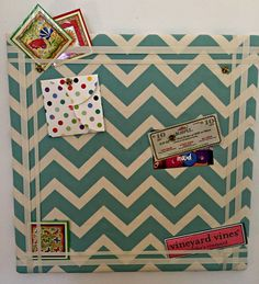 Using homasote is a clever and inexpensive way to make a pin board. Add some jazzy fabric and you have instant color and sass. AND, homasote is environmentally friendly too!