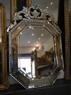 1000 images about miroirs anciens on pinterest louis - Grand miroir ancien pas cher ...