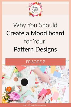 Mood boards are such a great way to visually communicate your ideas and allow you to collate all of your inspiration in one place before you begin designing. In this podcast episode, I talk about what you should include on your mood board and why you should create one. If you're looking for copyright free images, these are the sites mentioned: Inspiration For Kids, Design Inspiration, Kids Patterns, Floral Patterns, Textile Design, Fabric Design, Surface Pattern Design, Repeating Patterns, Geometric Designs