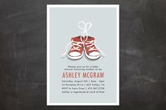 Tiny Sneakers Baby Shower Invitations by Laura Condouris at minted.com