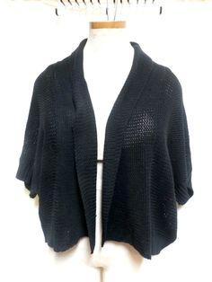 Extra Touch EUC Plus Size Black Short Sleeve Sweater Shrug Size 3X #ExtraTouch #Shrug