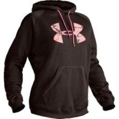 Image detail for -Under Armour Women's Tackle Twill Hoodie - Bureau/Pink Realtree (M)