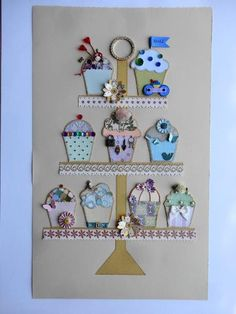 Cupcake Dreaming by Michaela Laurie of Paper Quilt Creations Paper Quilt, Advent Calendar, Cupcake, Quilts, Christmas Ornaments, Create, Holiday Decor, Home Decor, Decoration Home