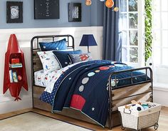 Space Bedroom and that ROCKET bookcase! Oh fun! potterybarnkids.com