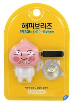 Kakao Talk Friends Cute Characters Car Vechicle Air Freshener Apeach #Unbranded