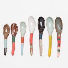 "Ceramic Spoon: 5""-5.5"" long The Maker: ""Every day has different colors. I try to…"