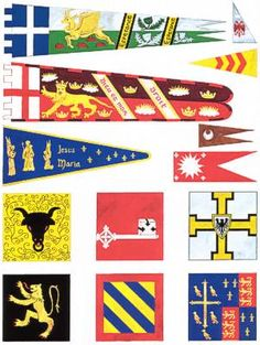 Article on SCA Heraldic Display By Falko von der Weser Medieval Banner, Wars Of The Roses, Medieval Times, Crests, Silk Painting, Coat Of Arms, Fantasy, Larp, Middle Ages