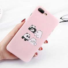 Funny Cartoon Panda Phone Case For iPhone 7 Plus Love Heart Cases For iPhone X 8 - Transparent Iphone 8 Plus Case - Funny Cartoon Panda Phone Case For iPhone 7 Plus Love Heart Cases For iPhone X 8 7 Plus Matte Hard PC Back Cover Coque Funny Iphone Cases, Cute Phone Cases, Iphone 7 Plus Cases, Iphone Phone Cases, Funny Phone, Capas Iphone 6, Cartoon Panda, Apple Iphone, Phone Gadgets