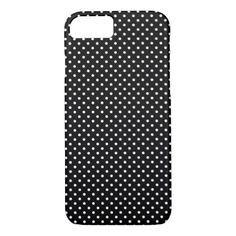 Black And White Polka Dot Pattern iPhone 8/7 Case #polkadot #pattern #iphone #protective #cases