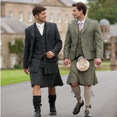 men scottish kilt tweed jacket - Google Search