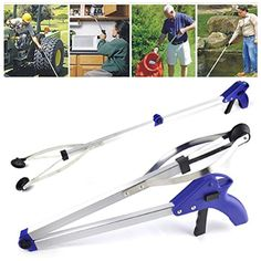 Foldable Gripper ,Ikevan Foldable Pick Up Reaching Long Arm Gripper Helping Hand Tool ** Read more reviews of the product by visiting the link on the image. (This is an affiliate link) #KitchenUtensilsGadgets